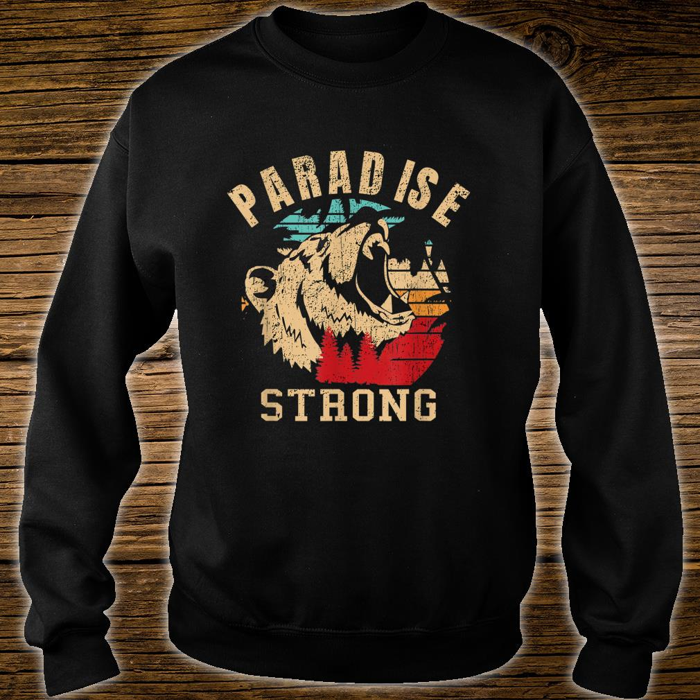 paradise camp fire california strong vintage Shirt sweater